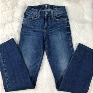 7 For all Mankind Kimme Straight Leg Jeans Size 25